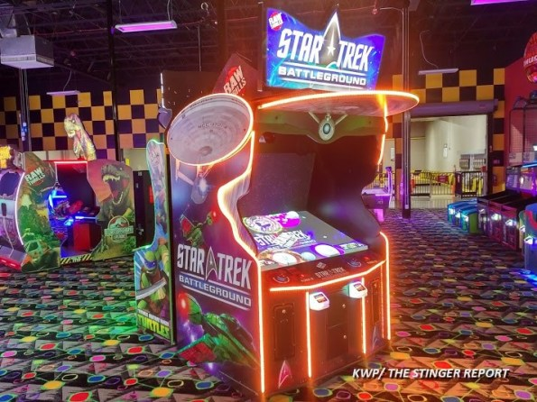 Star Trek Battleground location test arcade cabinet