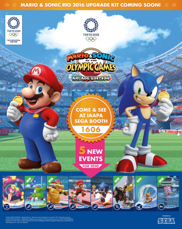Mario & Sonic At The Olympic Games Arcade Edition IAAPA 2019 flyer