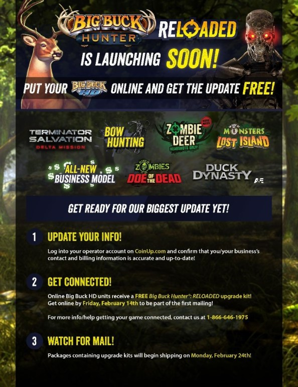 Big Buck Reloaded pre-launch promo